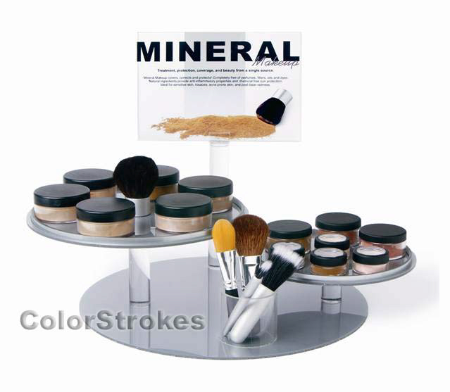 Mineral Makeup Displays